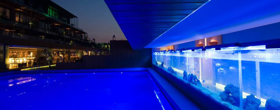 7800 Cesme - Pool by night