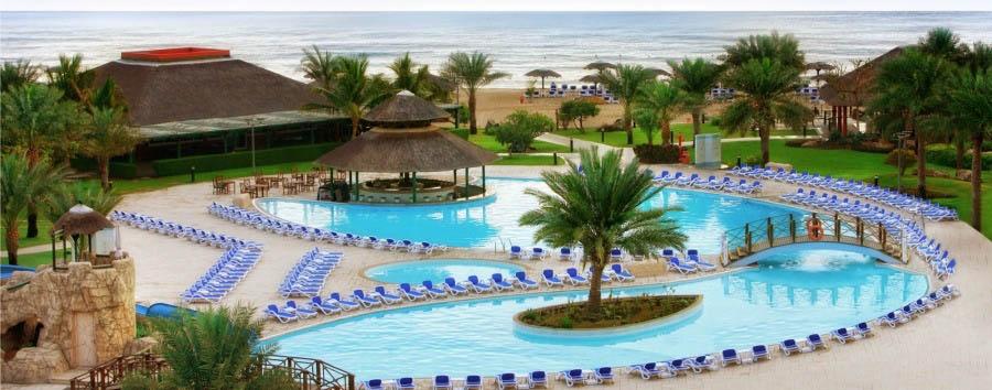 Fujairah, mare ad Al Aqah Beach - Fujairah Swimming Pool Aerial View