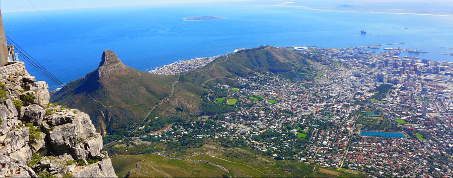 Cape Town & Garden Route - South Africa Cape Town, Aerial View From Table Mountain