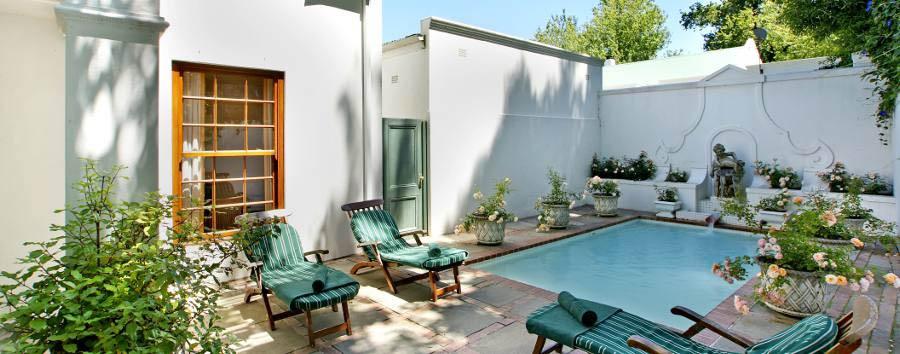 The Cellars-Hohenort - Madiba Villa, pool area