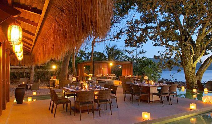 Palawan, El Nido Pangulasian Island Resort, Dinner at Sunset - Philippines