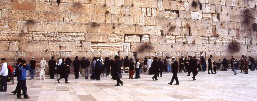 Israel - Jerusalem, Jewish Worshipers at The Wailing Wall