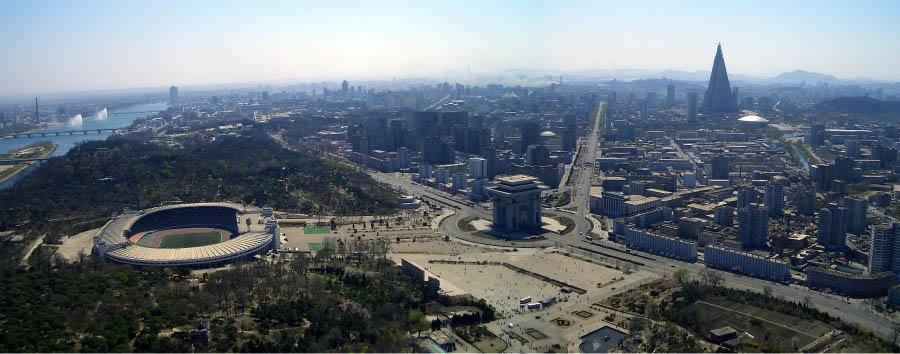 Corea del Nord da scoprire - North Korea Pyongyang - View from the TV Tower