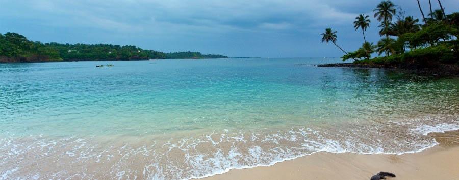 Nature, History & Culture - São Tomé View of Praia Jalé