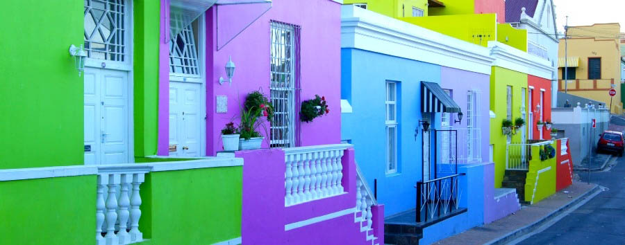 African Rainbow - South Africa Cape Town, Bo-Kaap Houses