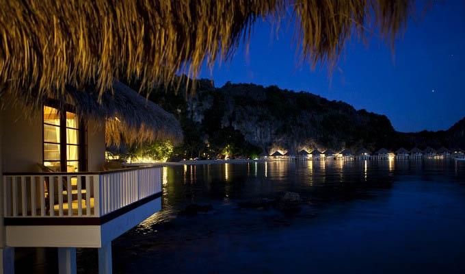 Palawan, El Nido Apulit Island Resort, View from Water Cottage - Philippines
