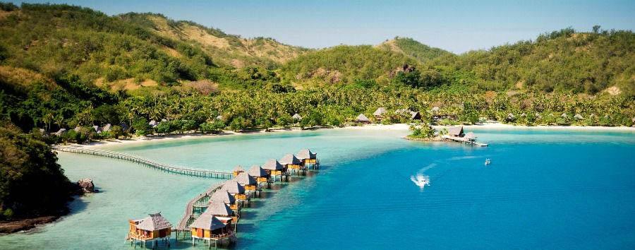 Fiji, mare a Malolo Island - Fiji Likuliku Lagoon Resort, Aerial View