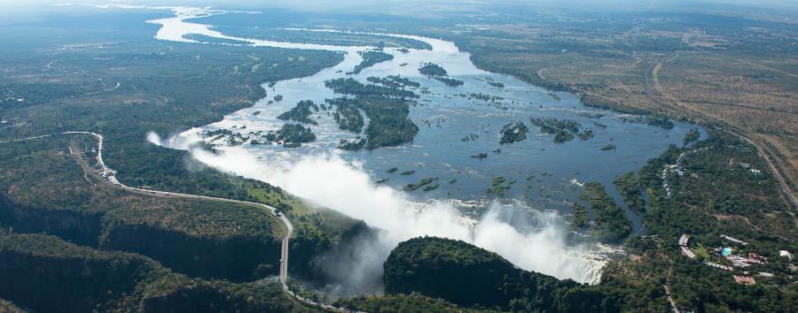 Botswana Baobabs - Botswana Victoria Falls Aerial View  © Sunway Safaris
