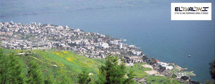 Natale in Israele - Israel Tiberias, Aerial View with The Lake