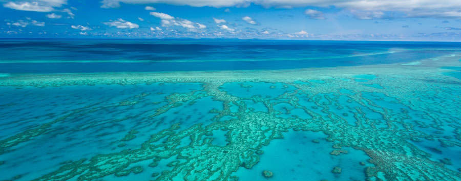 Fantastica Australia - Australia Aerial view of the Great Barrier Reef © Larissa Dening/Shutterstock.com