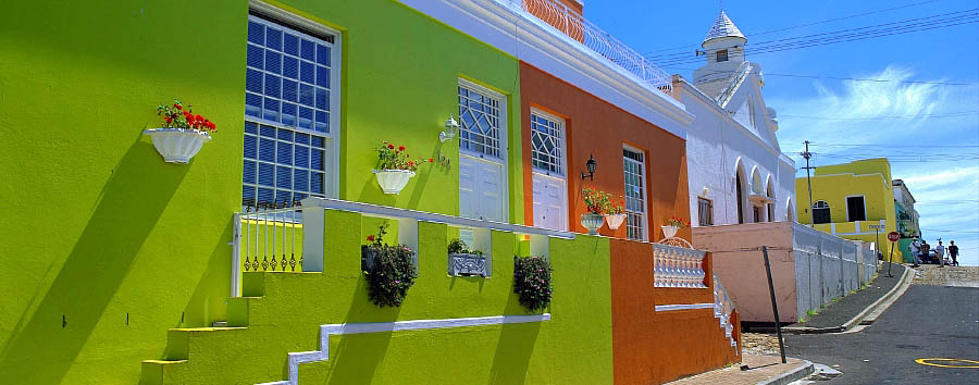 Explorer South Africa - South Africa Traditional colourful houses in Cape Town's Bo-Kaap area