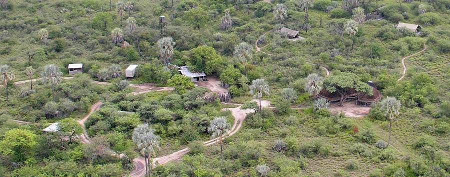 Camp Kalahari - Aerial view