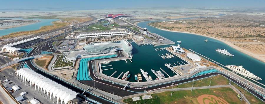 Abu Dhabi à la carte - Abu Dhabi Yas Island Aerial View