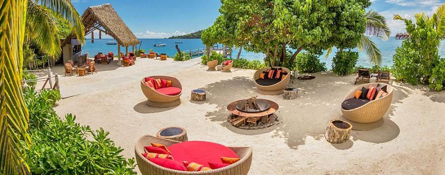 Fiji, mare a Malolo Island - Fiji Likuliku Lagoon Resort, Masima Island Bar