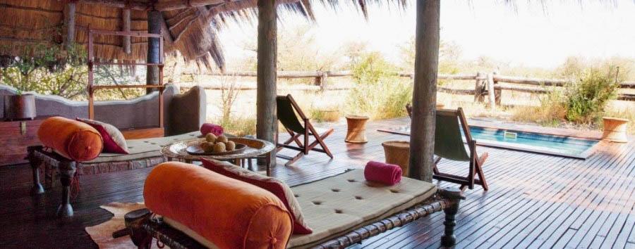 Camp Kalahari - Pool area