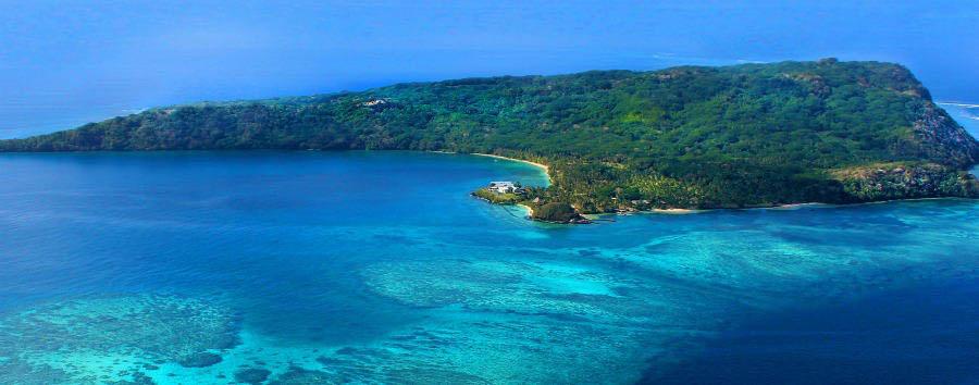 Fiji, mare a Wakaya Island - Fiji Wakaya Island, Aerial View