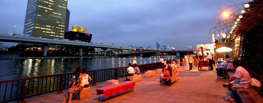 Le due anime del Giappone - Japan Tokyo, Sumida River