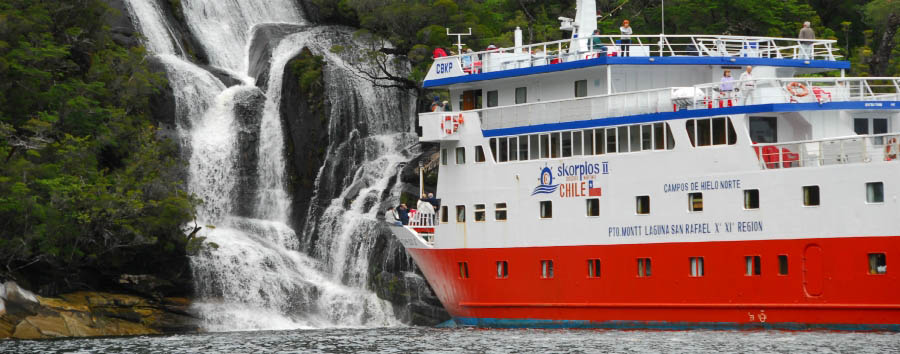 M/V Skorpios II - Quitralco waterfall