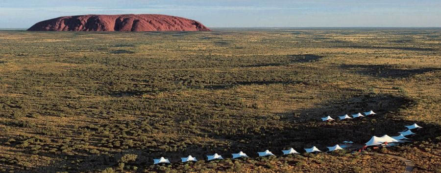 Unique Uluru Experience - Australia Longitude 131° and Uluru Aerial View © Luxury Lodges of Australia
