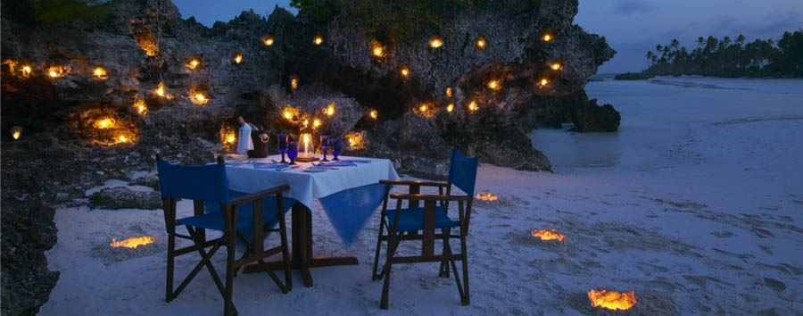 Zanzibar, Matemwe Retreat - Zanzibar Matemwe Retreat, intimate beach dinner setting