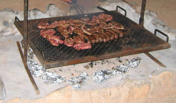 Typical Camp Braai - South Africa