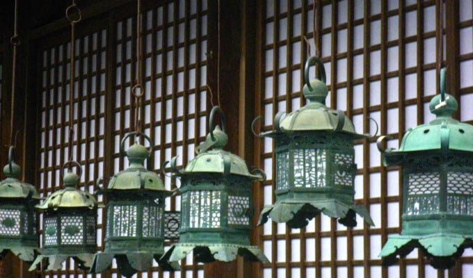 Nara, Lanterns in Kasuga Temple - Japan