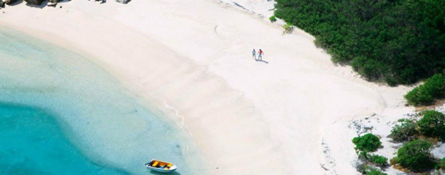 Unique Lizard Island Experience - Australia Lizard Island, Beach Aerial View © Luxury Lodges of Australia