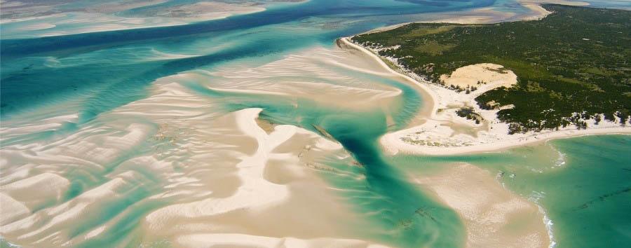 Arcipelago di Bazaruto à la carte - Mozambique Benguerra Island, Aerial View