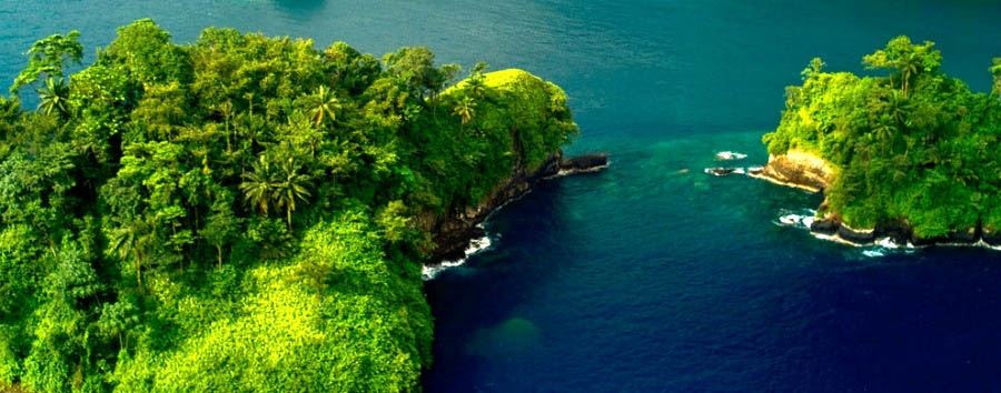 Tropical Green & Colonial Style  - São Tomé Beautiful Aerial View
