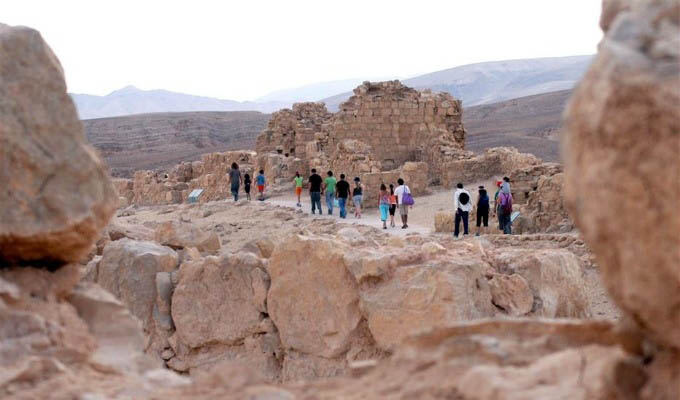 Exploring The Masada Fortress - Israel