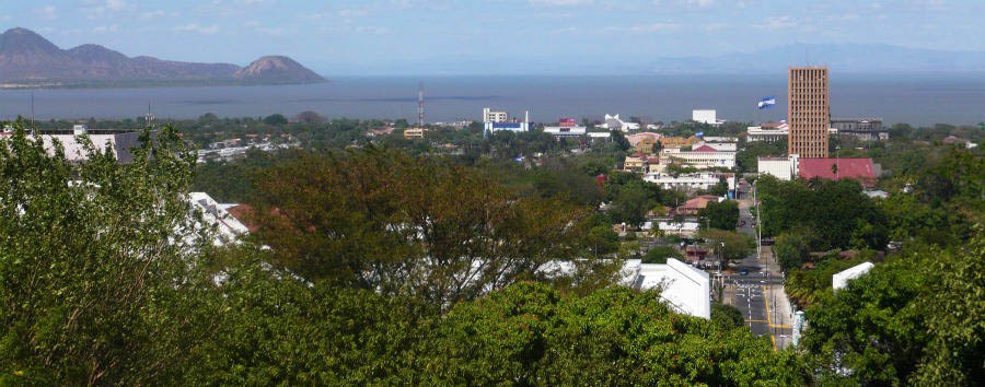 Wind over water, fire from earth - Nicaragua View of Managua from Tiscapa Kale © Hakoon S. Krohn