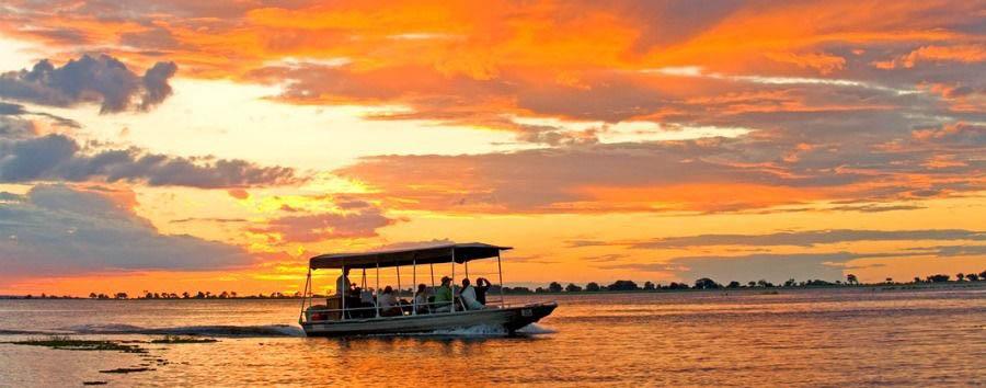 Highlights of Botswana - Botswana Sanctuary Chobe Chilwero, Sunset Cruise on The Chobe River