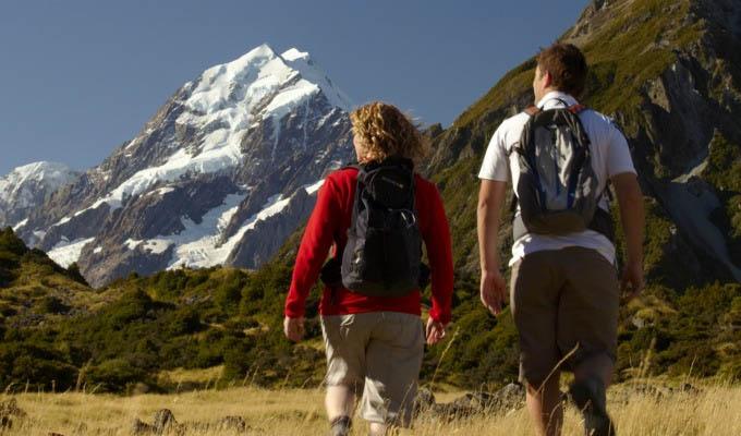 Trekking near Mount Cook - New Zealand