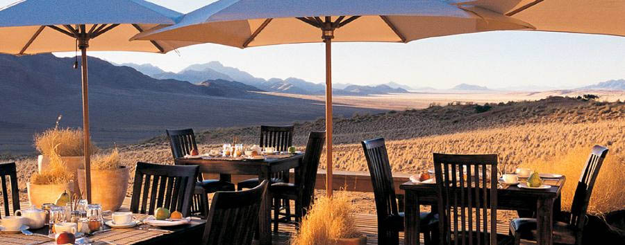 Wolwedans Dunes Lodge - Dining Outside
