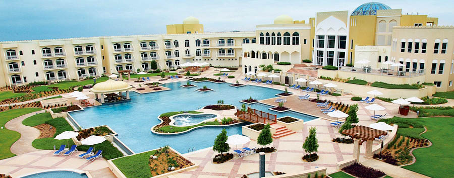 Oman - Marriott Salalah Resort pool view