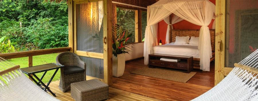 Pacuare+Lodge+-+River+Suite%2C+Bedroom+and+Deck+with+Hammock
