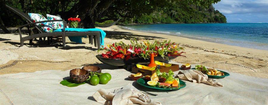 Fiji, mare a Wakaya Island - Fiji Wakaya Island, Picnic on The Beach