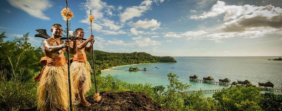 Fiji, mare a Malolo Island - Fiji Likuliku Lagoon Resort, Fijian Warriors