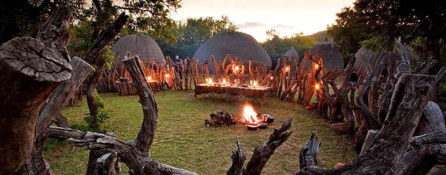 Isibindi Zulu Lodge - Traditional dinner