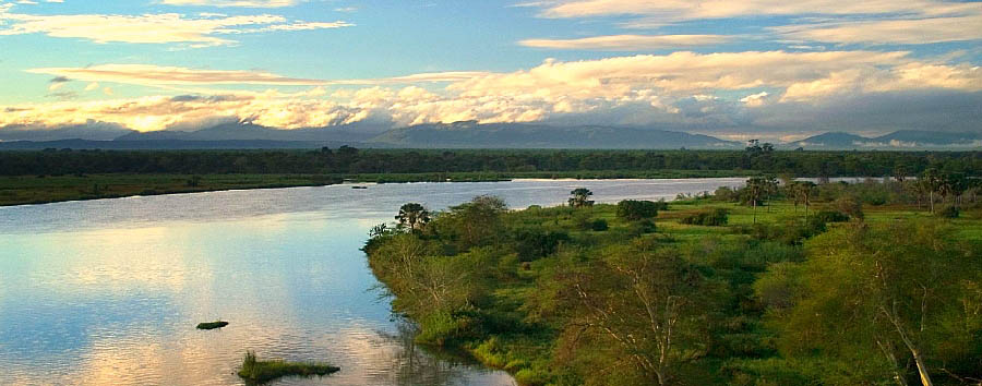 Malawi - Liwonde National Park aerial view