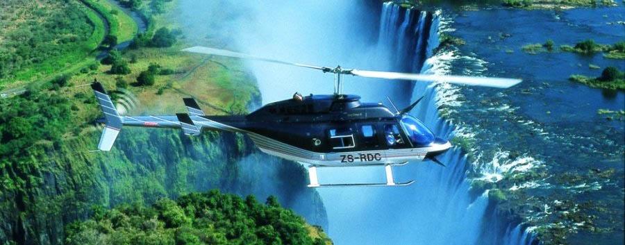 Sposi tra  Botswana e Zimbabwe  - Zimbabwe Helicopter flight over Victoria Falls