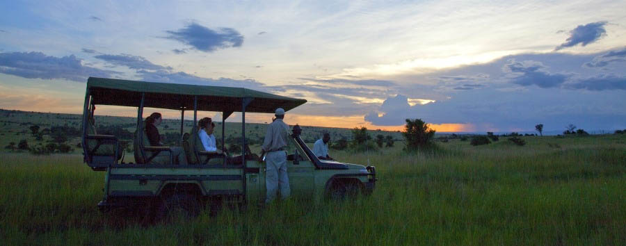 Unique Serengeti Experience - Tanzania Sayari Camp, Game Drive at Sundown