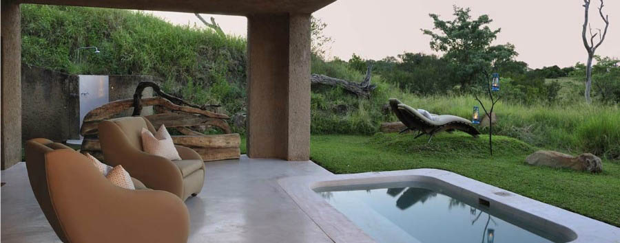 Sudafrica: Riserva di Sabi Sabi - South Africa Earth Lodge Suite Private Pool