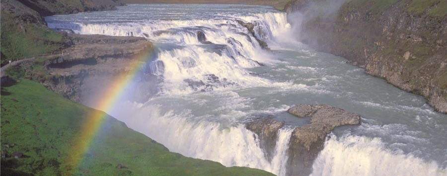 Aurora Boreale in Islanda - Iceland Gulfoss Waterfall © Iceland Travel