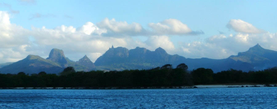 Mauritius - Turtle Bay and Mountains © Tim Parkinson