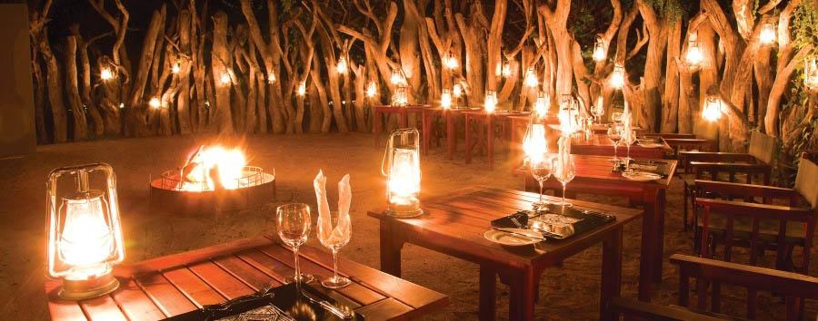 Royal Chundu - River Lodge boma dinner