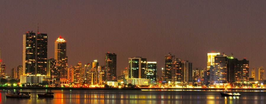 City, Forest & Beach - Panama Panama City, Night View