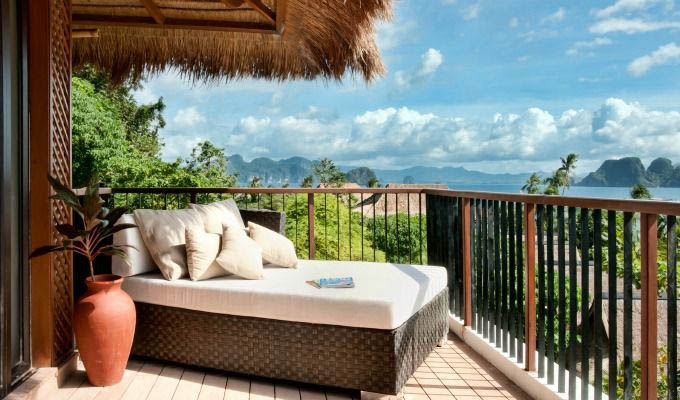 Palawan, El Nido Pangulasian Island Resort, Canopy Villa Balcony - Philippines