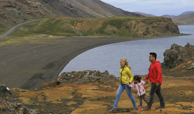Family in Krysuvik Geothermal Area - Courtesy of Iceland Travel - Iceland