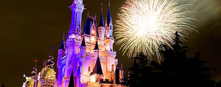Tokyo Disney Resort - Japan Tokyo Disneyland Resort at Night